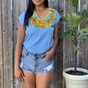 shilango floral top yellow